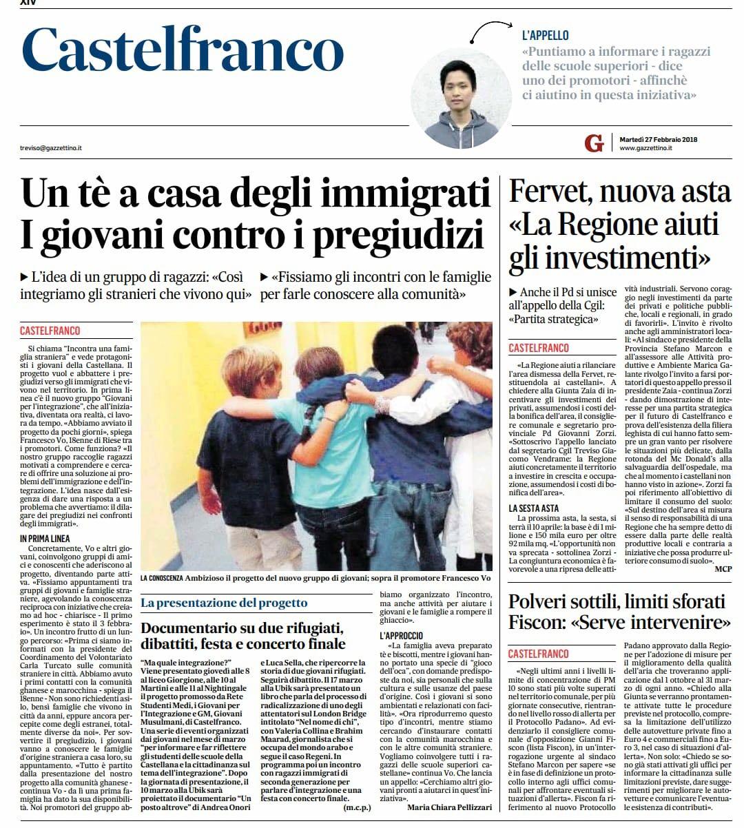 Progetto Francesco - Il Gazzettino